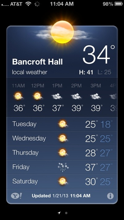 Bancroft Hall in Weather
