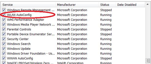 msconfig.exe services
