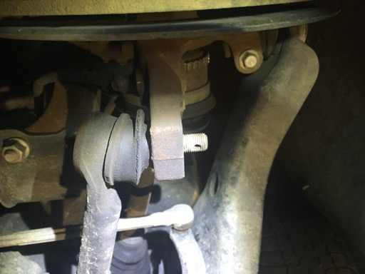 Old tie rod attached